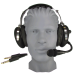 HD20 Starter Aviation Headset with Music Port, Rubberized Domes and Flex Boom