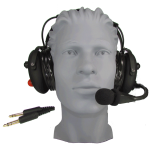 HD90 Premium Aviation Headset with Gel Ear Seals, Rubberized Domes and Flex Boom